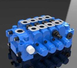 China Hydraulische Multi Directional Control Valve 4GCJX-G18L für den Maschinenbau fournisseur