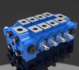 Mehrere hydraulische kombiniert Wegeventil DL für Engineering